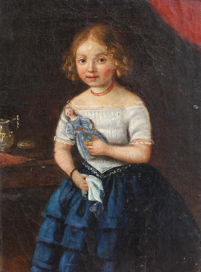 Her Late Night Cravings A Life S Checklist: 'Young Girl With Her Doll' (Late 18th Century
