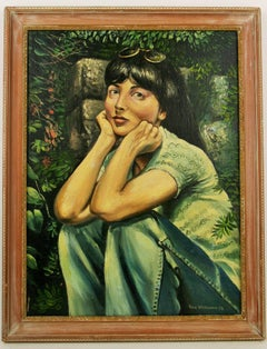 Young Lady Figurative  Painting 1960's