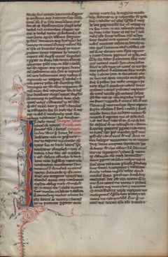 Your God, My God - Ruth 1250 Latin Medieval Bible Manuscript - pen ink religious