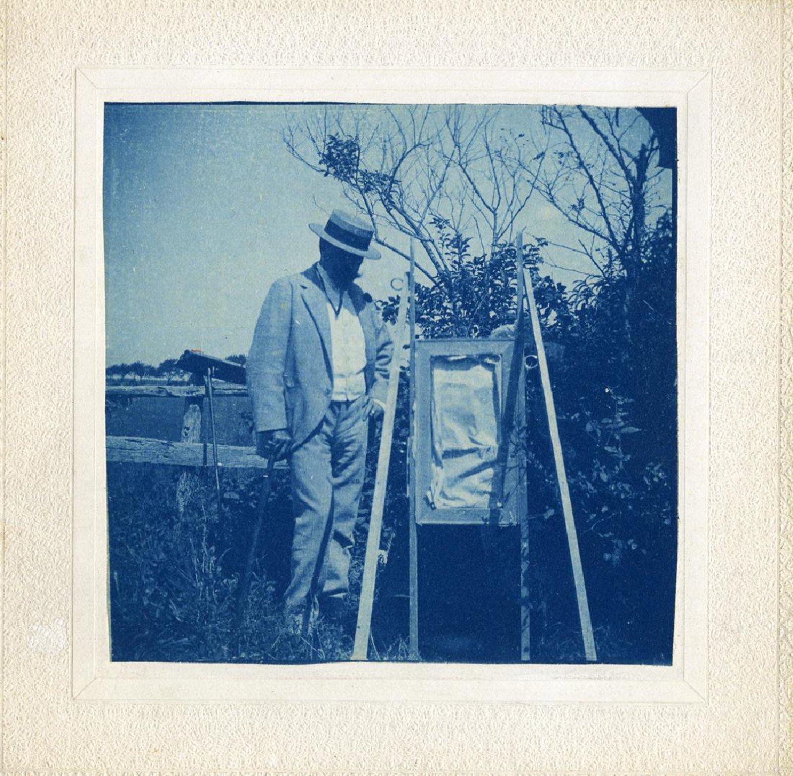 4 Cyanotypes of William Merritt Chase's Classes at Shinnecock Hills, Long Island