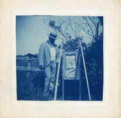 4 Cyanotypes of William Merritt Chase's Classes at Shinnecock Hills, Long Island