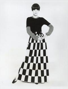 70s Fashion: Model in Sweater Dress Vintage Original Photograph