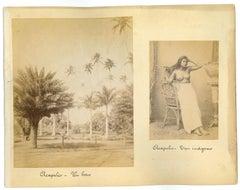 Acapulc: Ancient Views and Costumes - Original Vintage Photo - 1880s