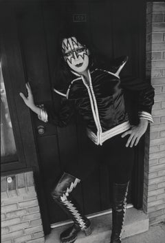 Ace Frehley of KISS Leaning in Doorway Fine Art Print