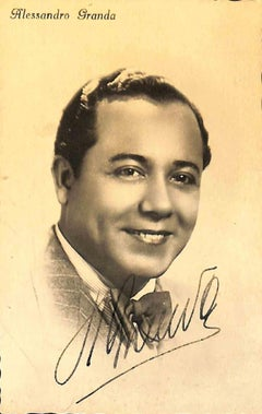 Alejandro Granda Relayza Autographed Photograph - 1930