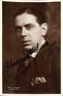 Alessandro Ziliani Autographed Photograph - 1933