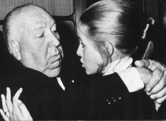 Alfred Hitchcock and Claude Jade - Vintage Photograph - 1960s