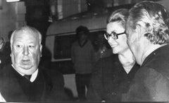 Alfred Hitchcock, Grace Kelly, Prince Ranieri - Vintage Photograph - 1972