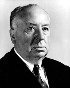 Alfred Hitchcock Up Close Globe Photos Fine Art Print