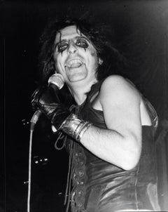 Alice Cooper Singing with a Smile Vintage Original Photograph