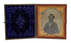 Ambrotype of a Gentleman in a Suit in Case, Civil War Period 1860s