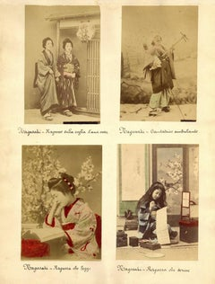 Ancient Portraits of Women from Nagasaki - Hand-Colored Albumen Print 1870/1890
