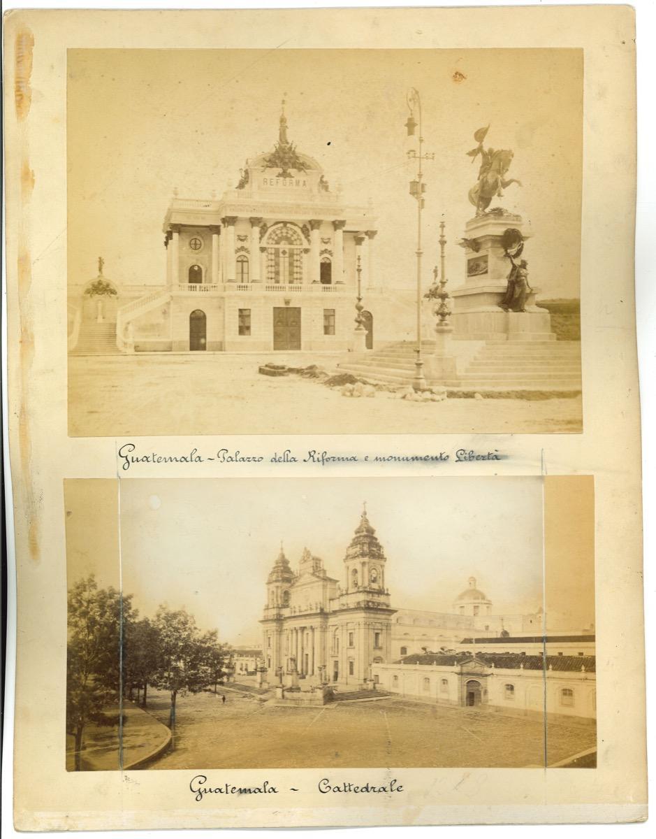 Ancient View of Guatemala City - Original Vintage Photos - 1880s