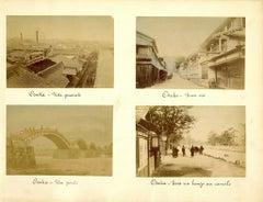 Ancient Views of Osaka - Hand-Colored Albumen Print 1870/1890