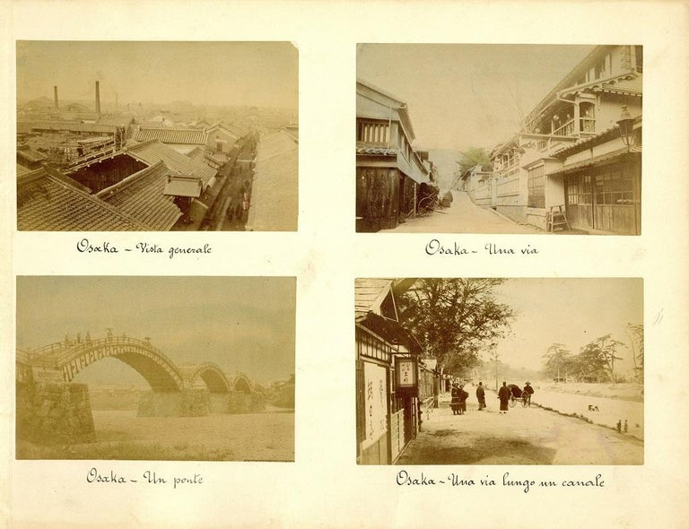 Unknown Landscape Photograph - Ancient Views of Osaka - Hand-Colored Albumen Print 1870/1890