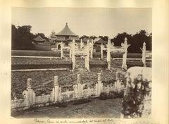 Ancient Views of the Temple of Heaven in Beijing- Original Albumen Print - 1890s