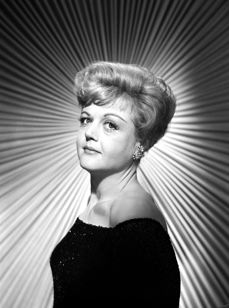 Unknown Black and White Photograph - Angela Lansbury Stunning Studio Portrait Fine Art Print