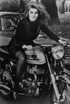 Ann Margaret on Motorcycle Vintage Original Photograph