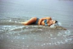 Ann Margret Sexy Pinup on Beach Fine Art Print