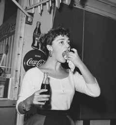 Anna Marie Alberghetti: Opera Star with Coca Cola and a Hot Dog Fine Art Print