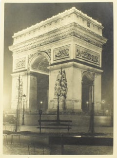 Arc de Triomphe Paris - Silver Gelatin Original Black-White Photograph
