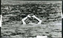 Aristotele Onassis at the Sea - Original Vintage Photo - 1970s