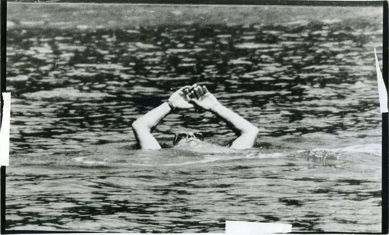 Unknown Black and White Photograph - Aristotele Onassis at the Sea - Original Vintage Photo - 1970s