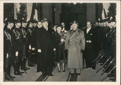 Arrival of Stojadinovic and reception of Mussolini - Vintage Photo - 1937