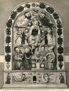 Assumption of Mary, Cappuccini Church, Barga -Vintage Photo Detail  - Early 1900