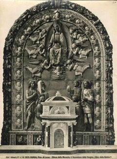 Assumption of Mary, Monache Church, Barga -Vintage Photo Detail  - Early 1900