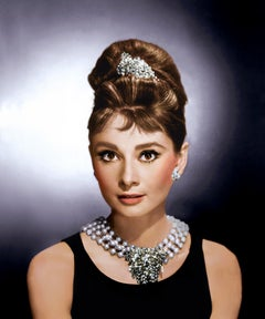 "Audrey Hepburn ""Breakfast at Tiffany's""  Colorized Fine Art Print"