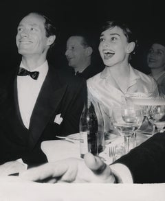 Audrey Hepburn Candid Laughing at Dinner Fine Art Print