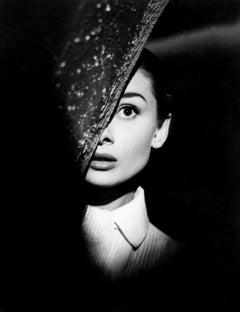 Audrey Hepburn Glamour in Shadow Globe Photos Fine Art Print