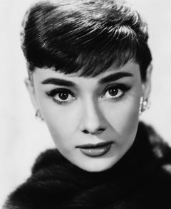 Audrey Hepburn Glamour Up Close Globe Photos Fine Art Print