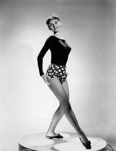 Audrey Hepburn in Fishnets Globe Photos Fine Art Print