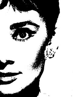 Audrey Hepburn Special Abstract Edition Framed Art Print