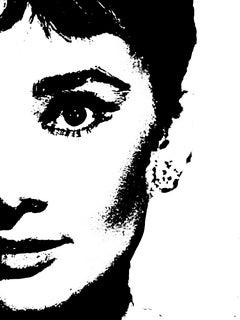 Audrey Hepburn Special Abstract Edition Framed Art Print