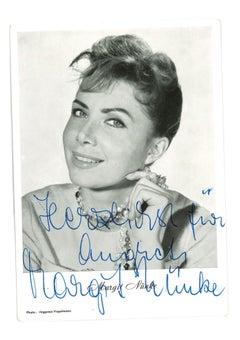 Autograph Portrait of Margit Nünke - Original b/w Postcard - 1950s