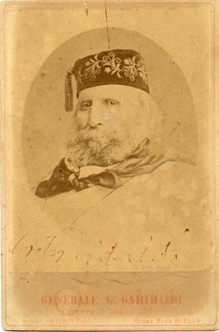Autographed Portrait and Dedication of Giuseppe Garibaldi - 1880s