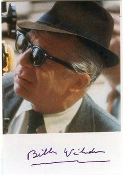 Autographed Portrait of Billy Wilder - Vintage Photograph  - 1960s