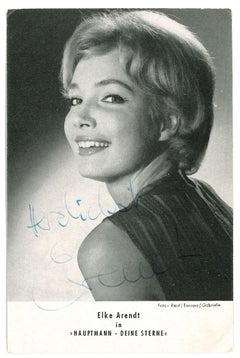 Autographed Portrait of Elke Arendt - Vintage b/w Postcard - 1950s