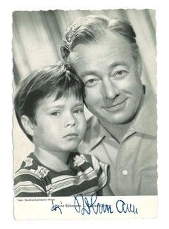 Autographed Portrait of H. Rühmann und O. Grimm - Vintage b/w Postcard - 1950s