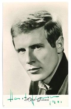 Autographed Portrait of Horst Janson - Vintage  b/w Postcard - 1961