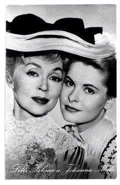 Autographed Portrait of iLilli Palmer und Johanna Matz -Vintage Postcard - 1950s