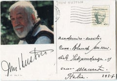 Autographed Portrait of John Huston - Vintage Postcard - 1960s