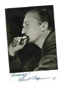 Autographed Portrait of Kurt Hoffmann - Vintage b/w Postcard - 1960s
