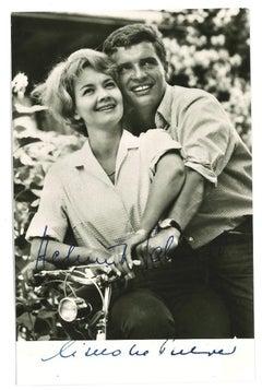 Autographed Portrait of Lilo Pulver and Helmut Schmid -  1950's