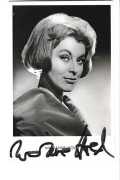 Autographed Portrait of Marianne Hold - Vintage b/w Postcard - 1950s