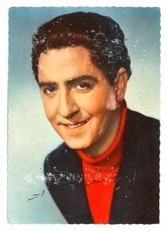 Autographed Portrait of Vico Torriani - Vintage b/w Postcard - 1950s