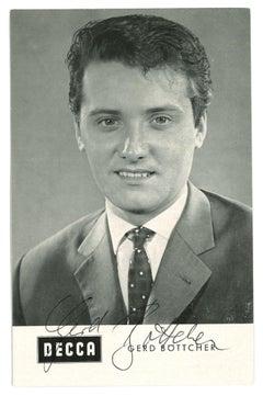 Autographed Postcard by Gerd Böttcher - Vintage b/w Postcard - 1960s
